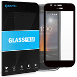 Full Coverage Tempered Glass Screen Protector - Nokia 1 - Black Frame